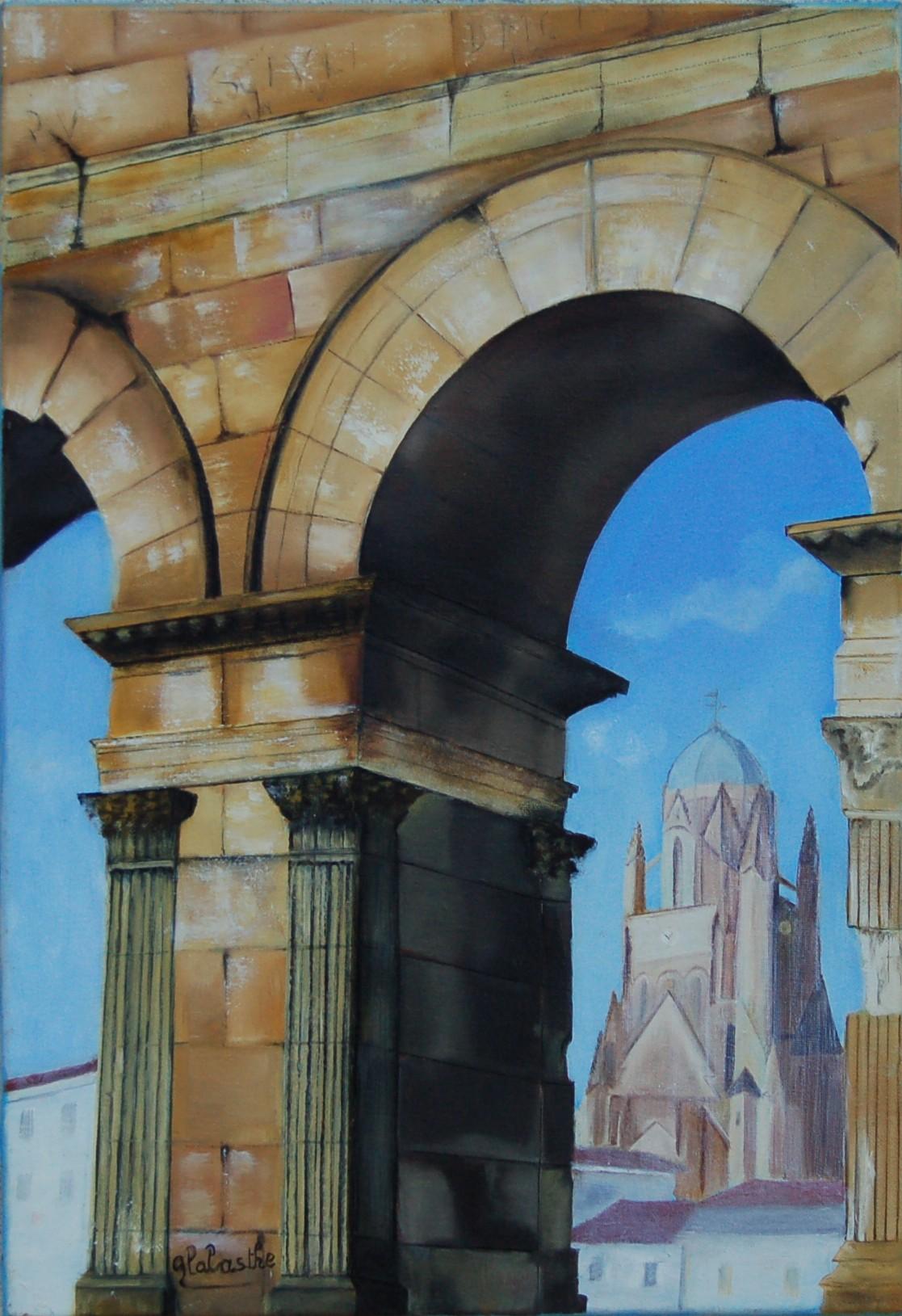 164 - Arc de Germanicus - Huile - 55 x 38