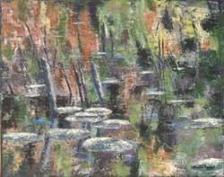 Le marais en Automne - 40x51