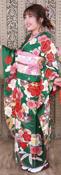 232緑古典花と笹