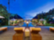 Villa Mandalay - Sun loungers at night.j