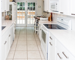 White Galley Style Kitchen, Sandy Springs