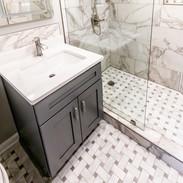 Small Atlanta Master Bathroom