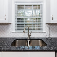 double undermounted stainless steel sink