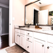 Traditional Style Vanity with Drawer and Cabinet Combo