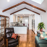 family room to kitchen recessed lighting