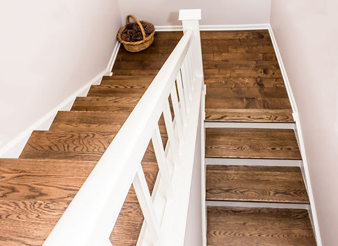 Remodeled Hardwood Staircase