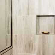 Large porcelain Tile with Matching Niche