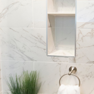 Niche to in Small Bathroom Wall