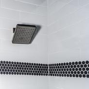 Modern Brushed Nickle Square Shower Head