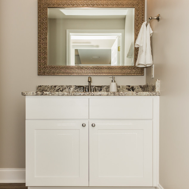 Shaker Style Vanity Set Topped with Granite