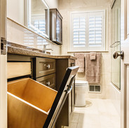 Custom Brown Wood Cabinets