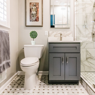Perfectly Sized Small Vanity with Comfort Height Toilet