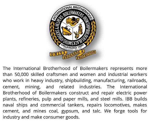 Boilermakers Brotherhood Web Endorsement