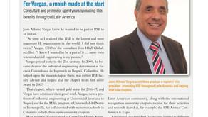 Publicación Reconocimiento a nuestro CEO, Revista IISE (Institute of Industrial & Systems Engineers)