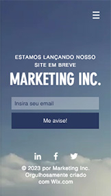 Propaganda e Marketing website templates – Lançamento de Marketing