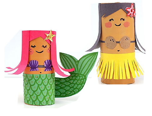 Mermaids and Hula Girls