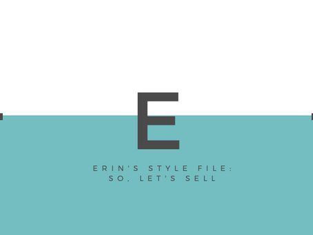 Erin's Style File: So, Let's $ell