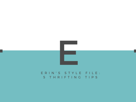 Erin's Style File: 5 Thrifting Tips