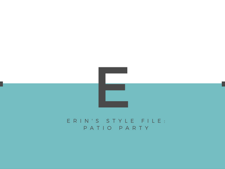 Erin's Style File: Patio Party