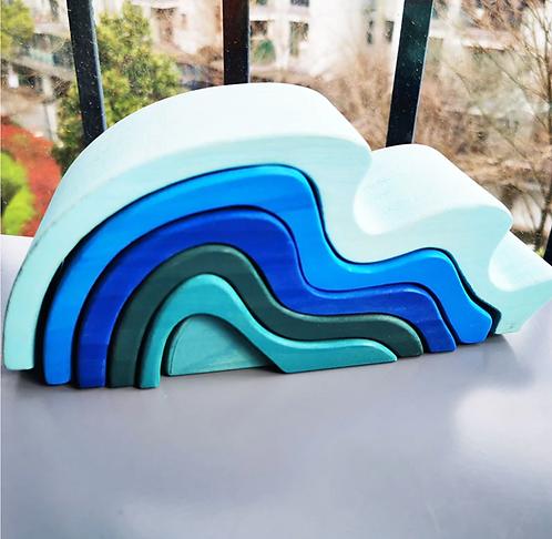 Wood Blocks - Sea Wave