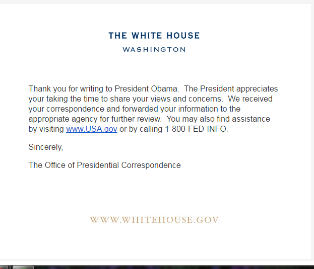 White House Email Dated Oct 4