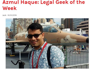 FirstCOUNSEL in the News: Legal Geek of the Week Co-founder/CEO Azmul Haque