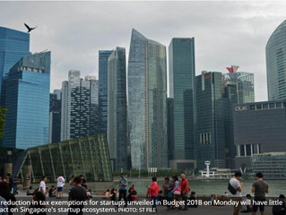 Singapore Budget 2018: Affect on the startups ecosystem