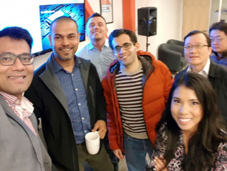 CEO/co-founder Azmul Haque speaks to captive Silicon Valley audience at Blk71  and 500 Startups SF l