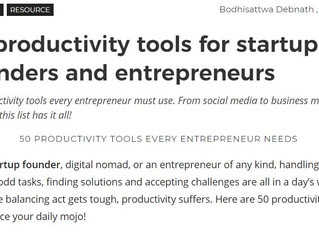 50 productivity tools for startup founders and entrepreneurs!