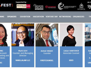 CEO Azmul Haque featured on the Tech Talk Stage at TechLaw.Fest 2018 next week