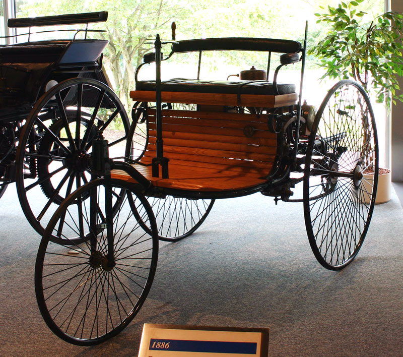 1885 Benz Patent-Motorwagen, first car to go into production with an internal combustion engine