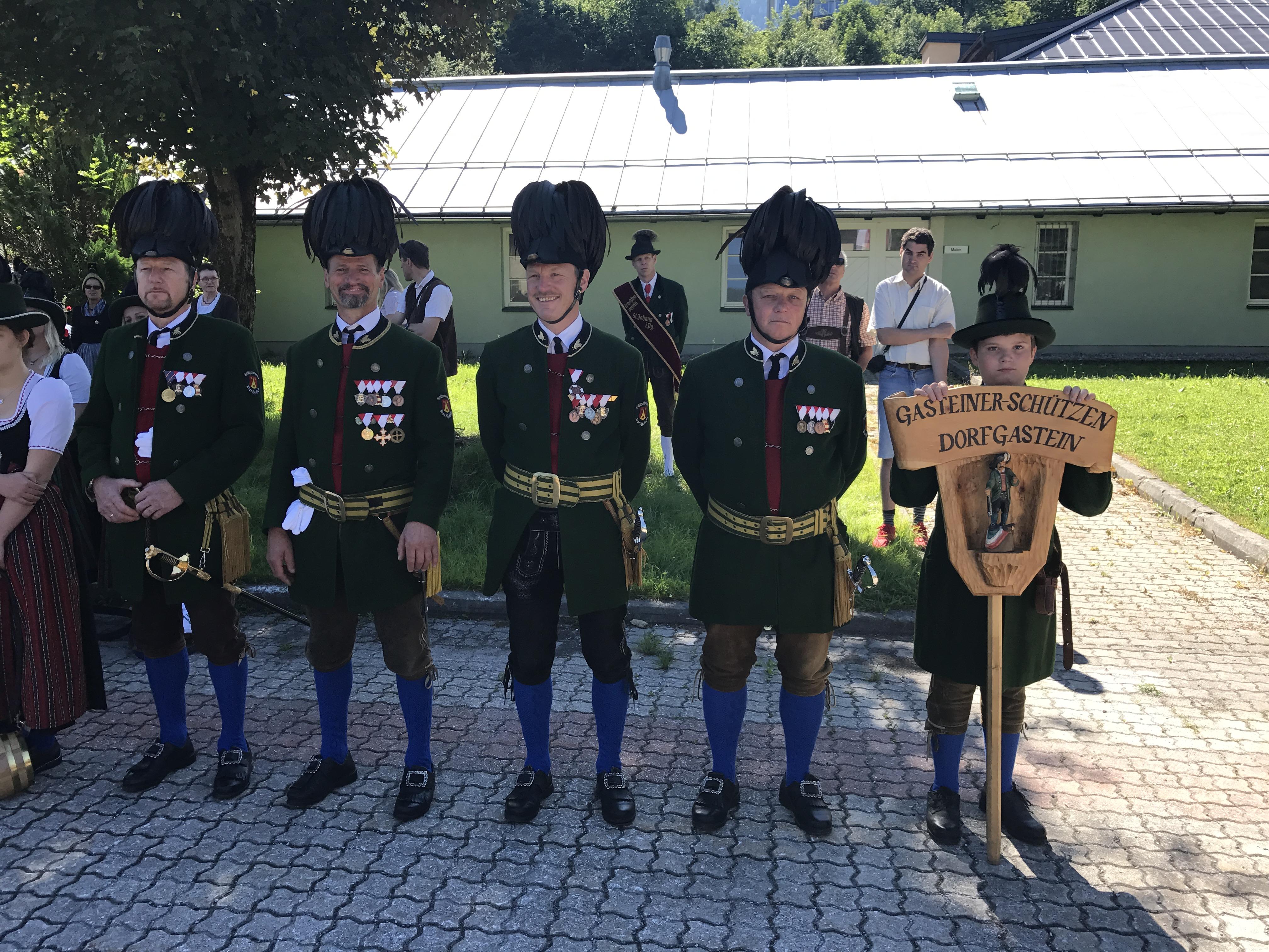 Offiziere der Gasteiner Schützen