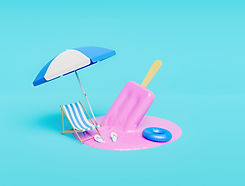 melted-strawberry-ice-cream-with-beach-accessories.jpg