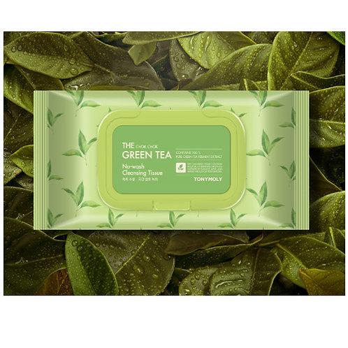 The Chok Chok Green Tea No Wash Cleansing Tissue 100 wipes