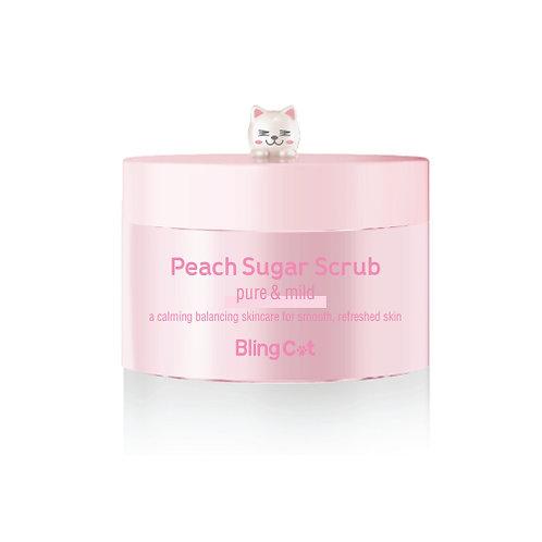Bling Cat Pink Peach Sugar Scrub