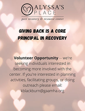 Giving back is a core principal in recov