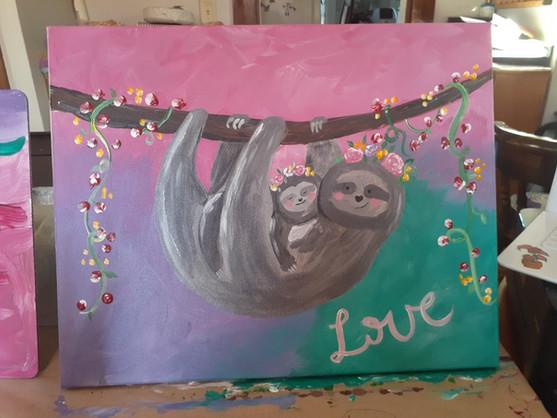 Sloth Paint night 3.jpg