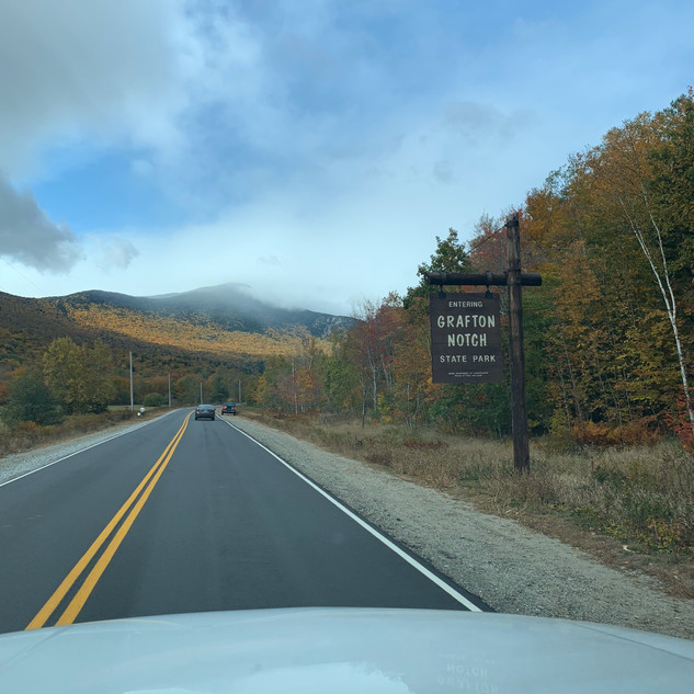 The drive through Grafton State Park is amazing!