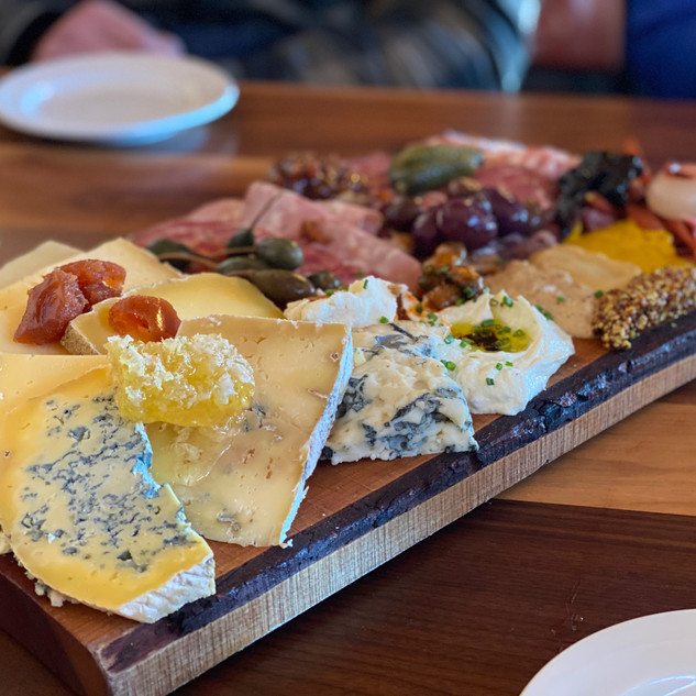 The large charcuterie board at North Peak Lodge is amazing!