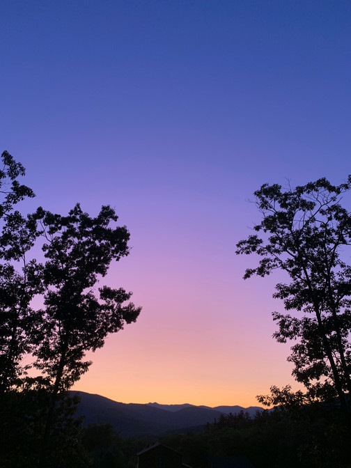 Oh purple mountains...