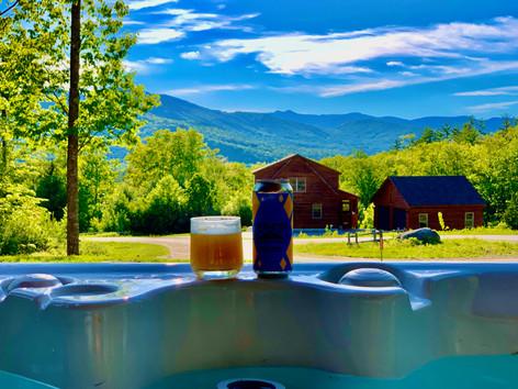Hot tub + Beer + View = Paradise
