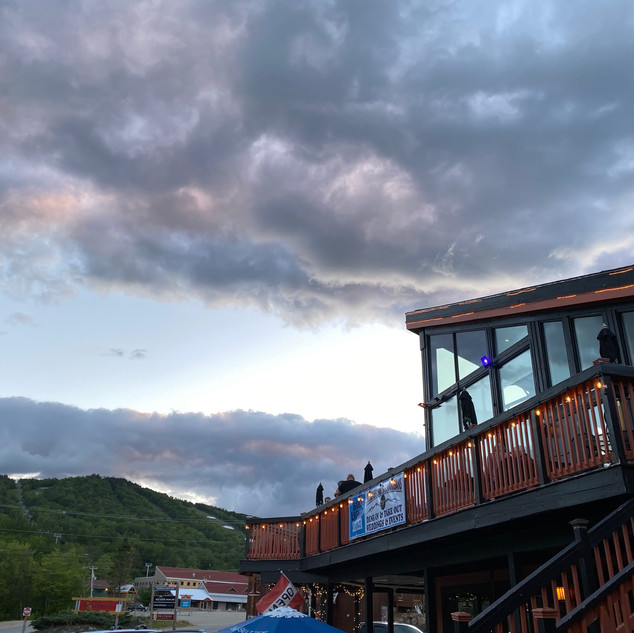 Have dinner on the deck at River Haus!