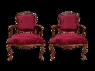 Charles Chairs: Burgundy Velvet, matches