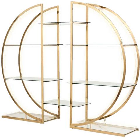 Circular Brass Shelves