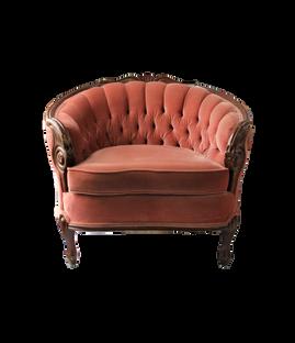 Rose All Day Chair: Tawny Blush Velvet