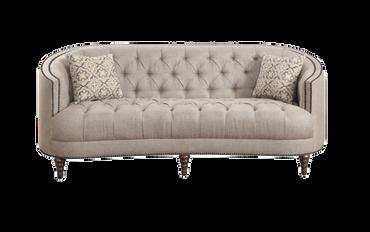Gretchen: Gray Linen Sofa