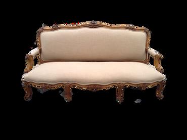 Sophie: Soft Beige Linen Vintage Sofa