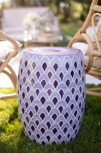 Lavender Garden Stool