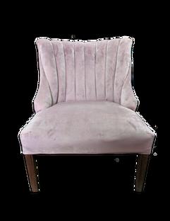Annabelle Chair: Mauve/Lavender Velvet