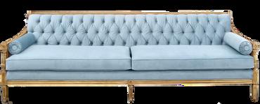 Celeste: Dusty Blue Velvet Large Sofa